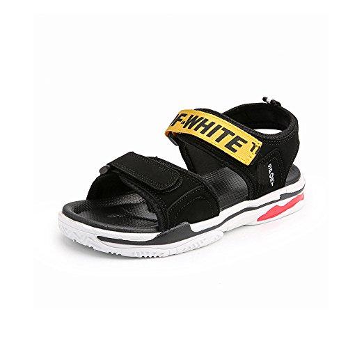 背が高い活性化する先駆者YQQ メンズサンダル ビーチの靴 パーソナライズされたスリッパ ホリデーシューズ カジュアルシューズ 夏 男性の靴 滑り止め 居心地の良い ファッション 屋外 (色 : イエロー いえろ゜, サイズ さいず : EU40/UK7)