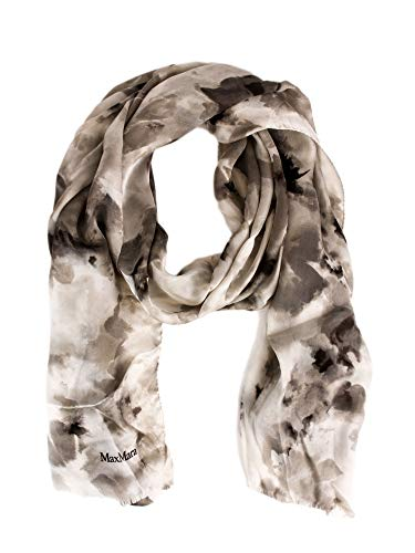 Max Mara Women's Uguale Marble Print Silk Scarf One Size Natural - Max Mara Silk