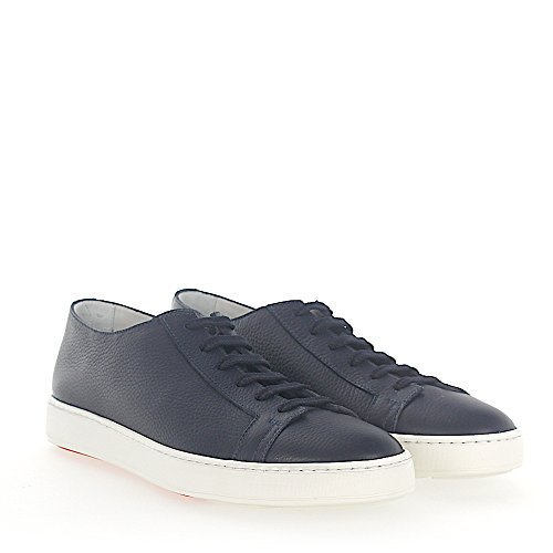 14387 Sneaker Leather Donkerblauw
