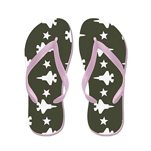 CafePress F-35 Lightning II & Stars Pattern (Mili - Flip Flops, Funny Thong Sandals, Beach Sandals