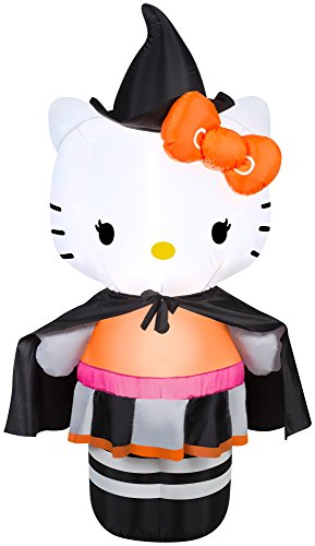 4' Airblown Hello Kitty as Witch Halloween -