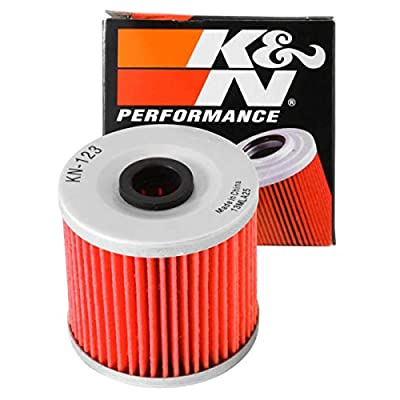 K&N Motorcycle Oil Filter: High Performance, Premium, Designed to be used with Synthetic or Conventional Oils: Fits Select Kawasaki Vehicles, KN-123: Automotive