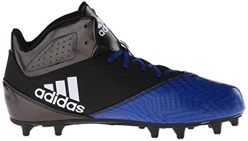 Adidas Prestanda Mens 5-stjärna Mitten Fotboll Sko Svart / Vit / Kollegial Royal