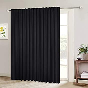 Amazon Com Nicetown Sliding Glass Door Wide Curtain