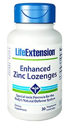 Lozenge 30 Lozenges (Life Extension Enhanced Zinc 30 Vegetarian Lozenges (2 Pack) by LifeExtension)