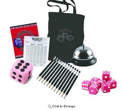 Dice Game Bunco - Bunco Game Kit with Crystal Bunco Tote Bag