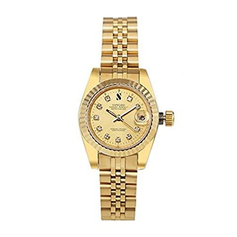 Topwatch® Sangdo Women's Gold Stainless Steel Gold Case Automatic Mechanical Watches (Sangdo Automatic Watches)