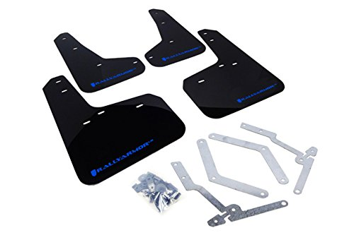 Rally Armor 13+ Ford Focus ST Black Mud Flap w/ Blue Logo Ford Focus Mud Flaps