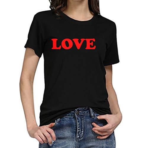 CUCUHAM Women Girls Plus Size Print Tees Shirt Short Sleeve T Shirt Blouse Tops (Y Black 3,XXX-Large) - Envelope Robe Cotton Red