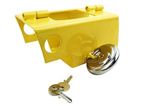 Hyfive Heavy Duty Hitch Lock for Caravan/ Trailer Stainless Steel With Padlock Security Lock for Caravan
