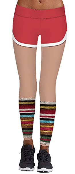 Christmas Running Leggings.Imbry Women S Christmas Costume Leggings Workout Running Tights Yoga Pants