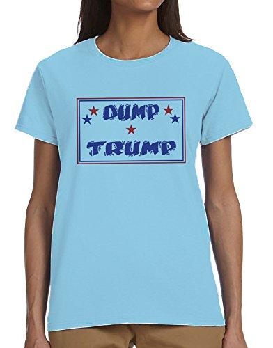 Dump Trump Ladies T-Shirt Blue Large