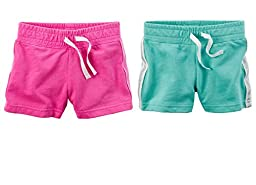 Carter\'s Baby Girls 2 Pack Pull-On French Terry Soft Shorts (24 months)
