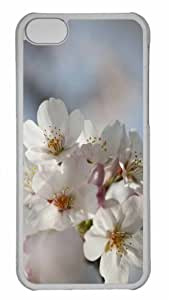 Customized iphone 5C PC Transparent Case - Blossom Macro Personalized Cover