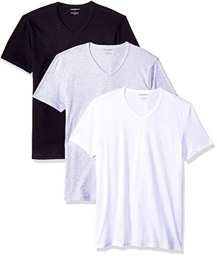 Emporio Armani Men's 3-Pack Regular Fit V-Neck T-Shirt for cheap
