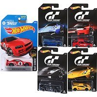 Hot Wheels Gran Turismo Video Game Cars & EA Need for Speed Nissan Skyline GT-R (R34) car set Ford GT / Pagani / Nissan Skyline / Lamborghini Gallardo
