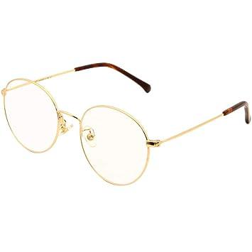 815e5fb56c75 Amazon.com  Cyxus Retro Round Blue Light Filter Glasses Vintage Anti ...