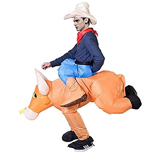 [Angelwing Horse Bull Unisex Costumes Waterproof Inflatable Motor Fancy Dress] (Bulma Costume)