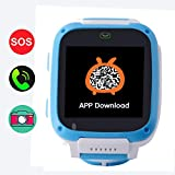 GPS Tracker for Kids,Hangang Kids Tracker Watch Game Smart Watch of Kids, Girls Watch with Game,Kids Smartwatch with Game Wrist Watch Education Toys Boys Girls Gifts-Blue