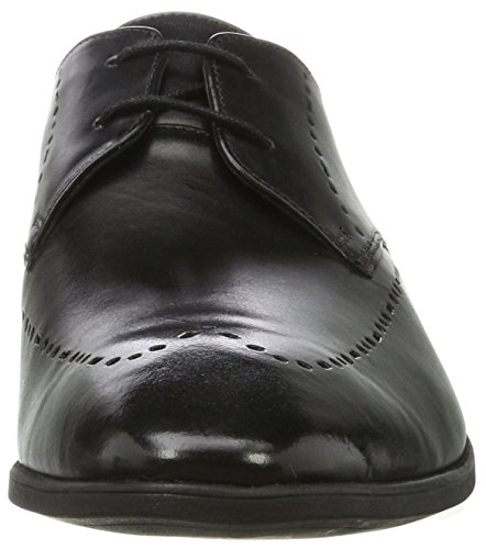 Derby Leather Nero Uomo Black Limit Clarks Bampton qEwF1zA