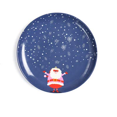 Culturemart 10 inch New Year Christmas gift tableware suit hand-painted ceramic plate steak dinner dish ren baby food main course -