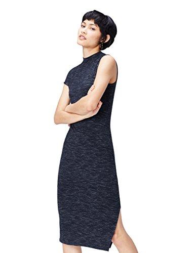 Donna Navy Vestito Blu Monospalla FIND qw6FBxEF