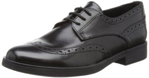 Geox CAGATA3 Wingtip (Toddler/Little Kid/Big Kid),Black,38 EU (5.5 M US Big Kid) by Geox