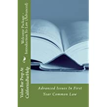 Welcome Package - Introduction To Law (Advanced): Advanced Issues In First Year Common Law