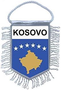 Akachafactory Fanion Mini Drapeau Pays Voiture Decoration Kosovo kosovar