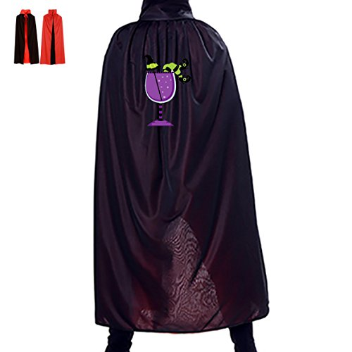 Homemade Kids Frog Costumes (Halloween Purple Drink Glass Children Adult Costume Wizard Witch Cloak Robe Cape)