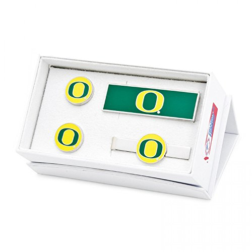 NCAA Mens Oregon Ducks 3-Piece Gift Set by Cufflinks
