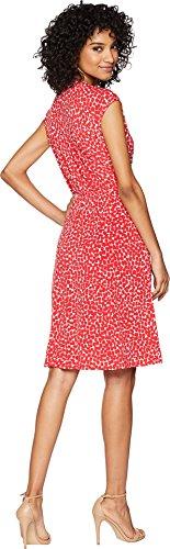 BCBGMAXAZRIA Women's V-Neck Faux Wrap Dress Red/White Large by BCBGMAXAZRIA (Image #2)