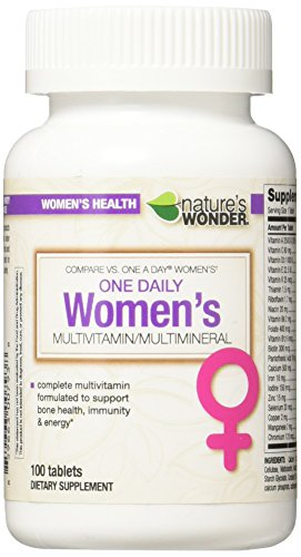 Cheap Nature's Wonder One Daily Women's Multivitamin, 100 Count, Compare vs. One A Day® Women's