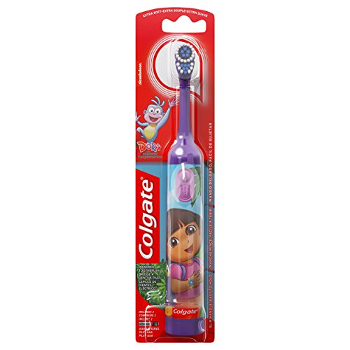 Colgate Powered Toothbrush, Dora The Explorer, Extra Soft, 1 Toothbrush, Colors may vary -