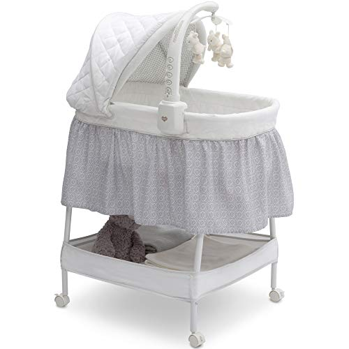 Delta Children Deluxe Gliding Bassinet, Silver Lining  (Not A Day Goes By Sheet Music)