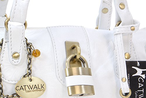 con Bianco Handbags Donna manici Collection Borsa Catwalk taAqBSW