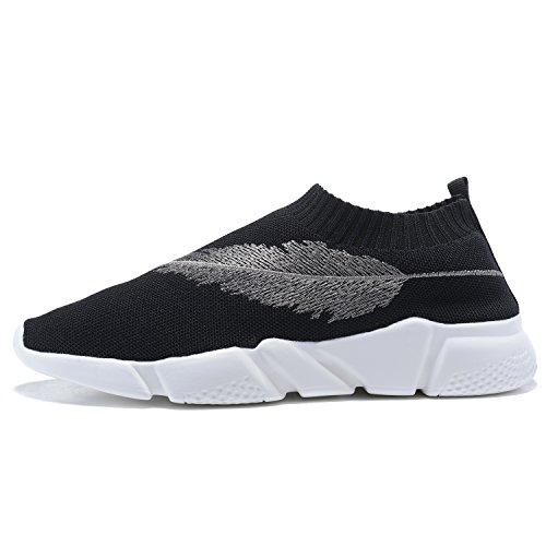 MANTOONE Men s Athletic Fashion Knit Pattern Sports Running Shoes Lightweight Casual Breathable Sneakers