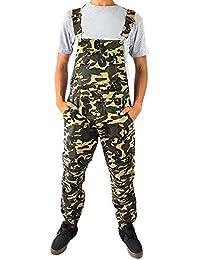 6e564f47e1a Cathedral Men s Casual Overalls Dungarees Coveralls Jogger Pant Cinch Hem  Bib Pocket Front 100% Cotton