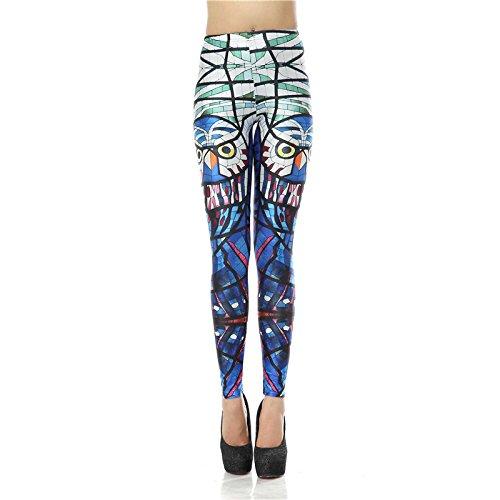 MAYUAN520 Legging Femme Taille haute tout nouveau verre Leggins numérique 3d Hibou Legins Femmes Pantalons Femmes Leggings imprimé