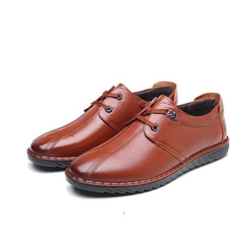 Sintético Braun Zapatos Feidaeu de gelb Hombre n1WEz