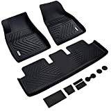 Vanku Complete Set Floor Mats for Tesla Model 3 2017, 2018, 2019 with Cup and Center Console Liner Accessories Black