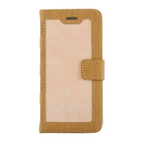 Protege tu iPhone, Para el iPhone 7 Business estilo portátil Hit Color horizontal Flip caja de cuero con titular y ranuras para tarjetas y marco de la carpeta y de la foto Para el teléfono celular de  Amarillo