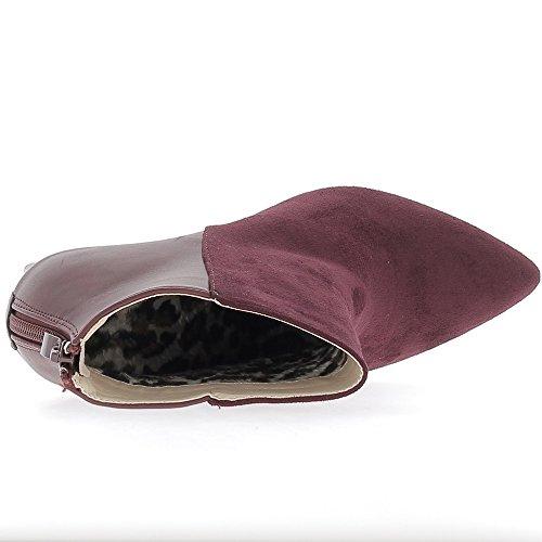Hæl 10 Støvler Bi Bordeaux Materialet Kvinne 5 Cm fqdwgdXz