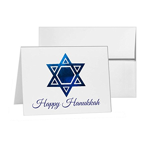 Star Of David Hanukkah , Blank Card Invitation Pack, 15 cards at 4x6, with White Envelopes, Item 168783