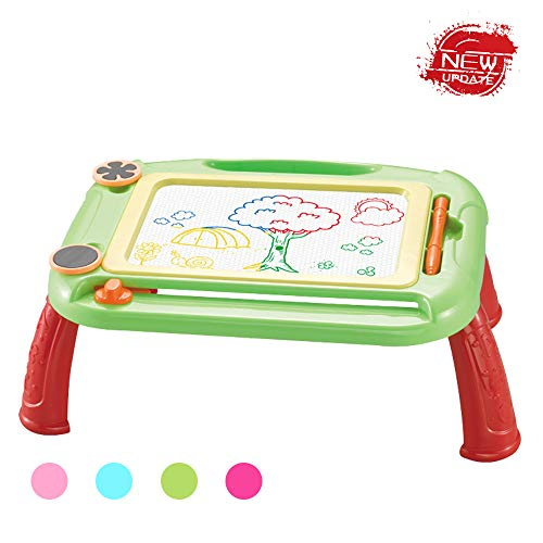 HahaGift Birthday Present for 2 3 4 5 6 Year Old Boys Girls,Magnetic Doodle Erasable Drawing Board Toys for Kids Age 3-7 Festival Gift for Toddlers Babies 2019 Christmas New Gifts,Green