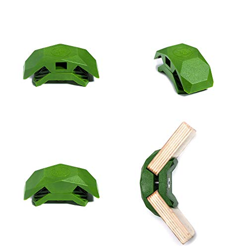 PlayWood Connector for Tool-Free Modular Pop-Up Furniture & Storage Assembly (Lt. Green, 105 Degree, 1 Box)