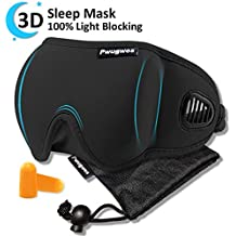 3D Sleep Mask for Women and Man,Unique Air Ventilated Eye Mask,Adjustable Blackout Light Eye shades,Lightweight Eye Cover for Sleeping,Travel,Nap,Meditation