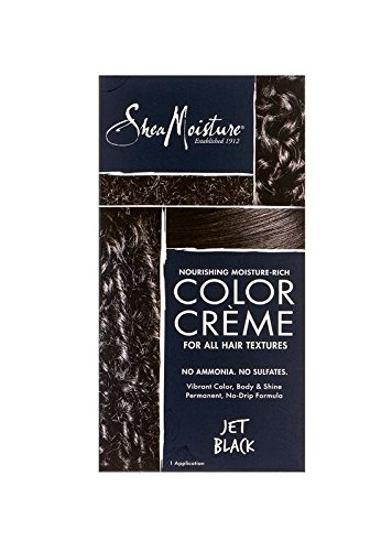 Hair Coloring System - Shea Moisture Nourishing Hair Color Kit, Jet Black