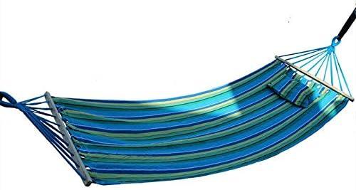 MHBY Hamaca de algodón al aire libre 200 * 80 cm, hamaca de jardín con palo de madera, bolsa de columpio sin accesorios de cuerda, carga máxima 120 kg.