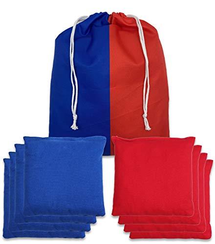 SPORT BEATS Cornhole Bags Weather Resistant Duck Cloth Set of